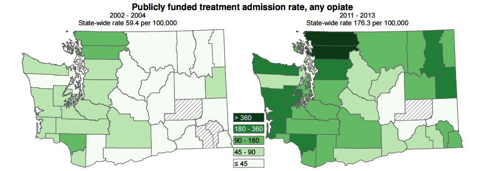 public funded opiate treatment in washington